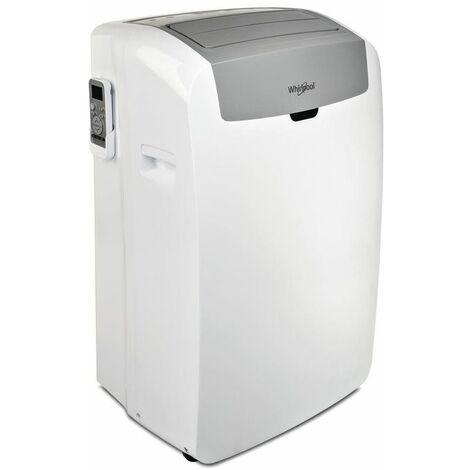 Whirlpool PACW29COL Climatizzatore Portatile 9.000 Btu/h Classe energetica A Display LED Gas R290 Tecnologia 6° SENSO Bianco