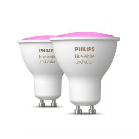 Philips Hue White and Color Ambiance Faretti Led GU10 Confezione da 2