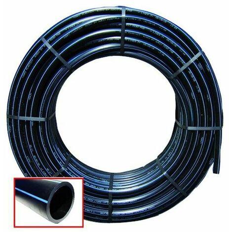 Tubo Polietilene Hd Nero/Blu Pn16 Uni-En1201 50 Mt Diametro mm. 25