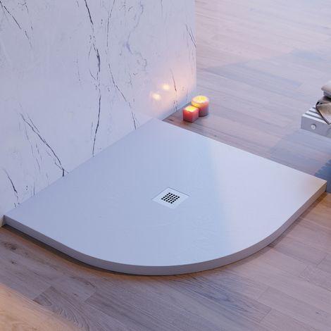 Piatto doccia stondato pietra ardesia grigio chiaro mineral marmo