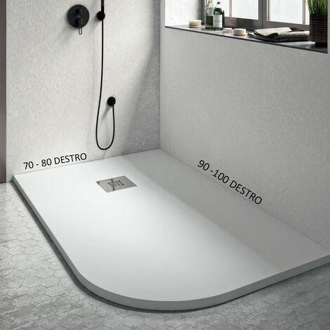 Piatto doccia stondato rettangolare bianco candy