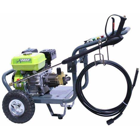 Varan Motors - 93001 HIDROLIMPIADORA CON MOTOR DE GASOLINA 6.5CV 163CC 2700PSI 170BAR - Gris