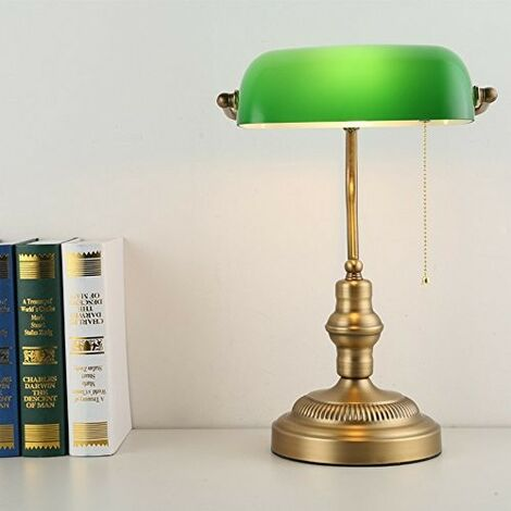 Lámpara de mesa y escritorio BANQUERO vintage E27