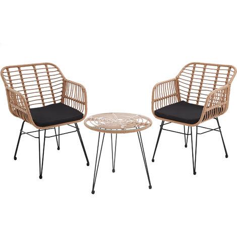 Salon de jardin MOLFETTA 2 places - mobilier de jardin, meuble de jardin, ensemble table et chaises de jardin
