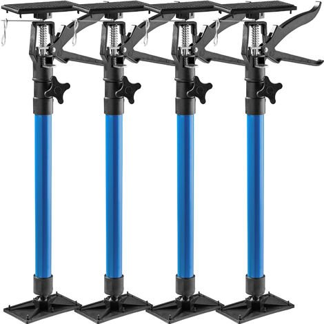 4 Etai de Soutien Télescopique de Porte de 51 cm à 115 cm