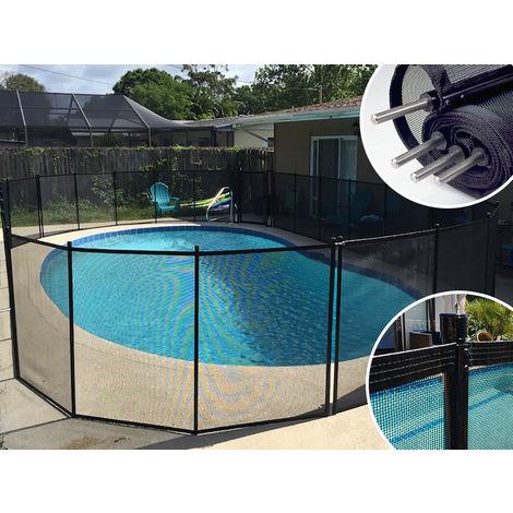 Clôture piscine démontable PROTECT ENFANT Noire 3m fixations 16mm