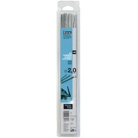 Toparc 087286 Barre di saldatura TIG in alluminio (AlMg5)