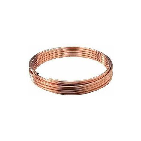 Couronne de cuivre recuit diamètre 6mm, 5 mètres