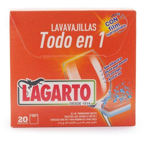 Lavavajillas pastilla 20pz maquina lagarto todo en 1 350120