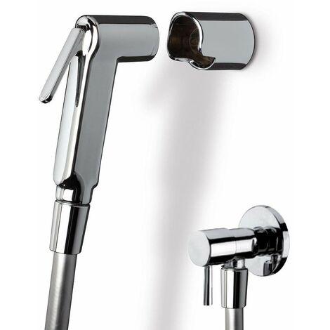Kit doccia igienica con rubinetto di arresto Damast 14180 -17334