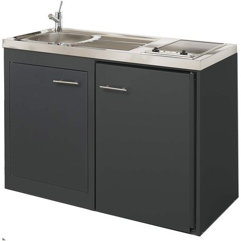 MODERNA Kitchenette CLIPMETAL 120x60 Anthracite thermolaqué