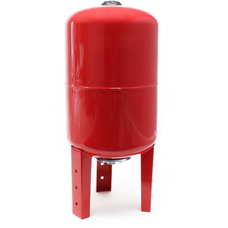 Vaso de expansión con membrana EPDM 50L, calderín depósito presión para grupo de presión doméstico