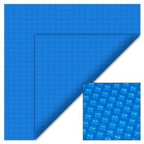 Cubierta solar piscina isotérmica Azul Rectangular 5x8m Lona térmica protectora Cobertor piscina