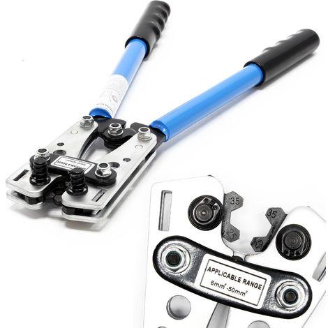 Tenaza crimpadora Alicates terminales 6-50 mm² Pinza prensar pelar cables Punzonadora Herramienta