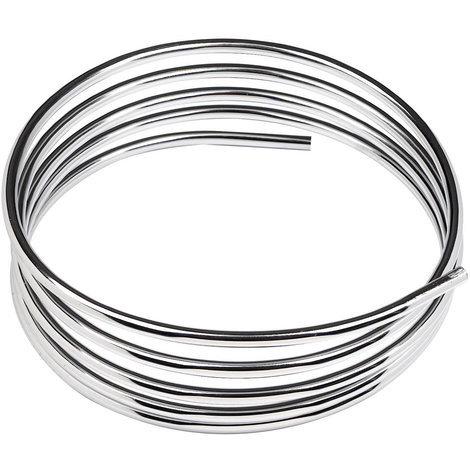 Rotolo di tubo in rame cromato diametro mm 10 metri 2 per idraulica