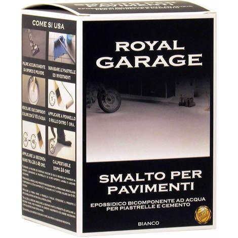 Royal garage smalto per pavimenti epossidico all'acqua bianco brava rgb7