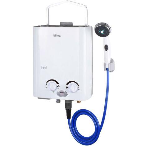 Qlima Chauffe-eau portable à gaz PGWH 1010 Blanc