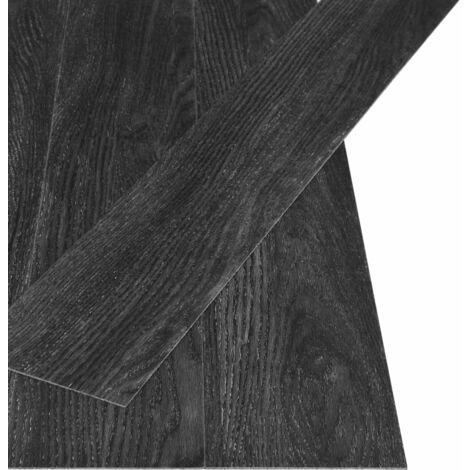 Planches de sol autoadhésives 4,46 m² 3 mm PVC Anthracite chêne