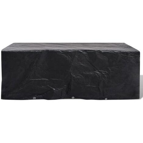 Housse de meuble de jardin Résine tressée 10 œillets 229x113 cm