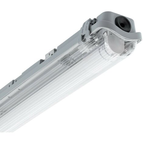 Kit Réglette Étanche Slim PC/PC avec un Tube LED T8 Connexion Latérale 1200mm 18W