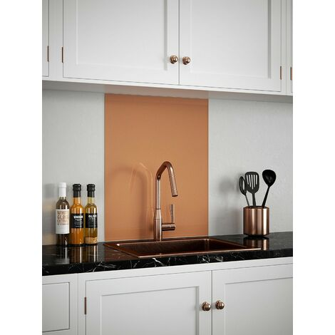Copper Glass Kitchen Splashbacks - different dimensions available