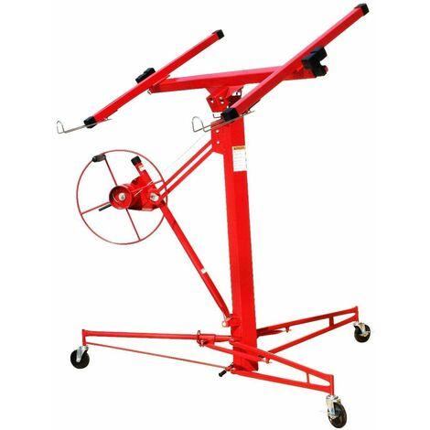 Varan Motors - 50790 Alzalastre per cartongesso, Sollevatore per pannelli trasportabile (Altezza massima 3,35m) - Rosso