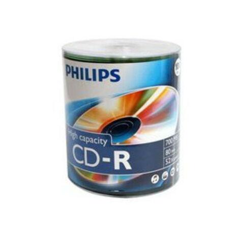 Philips CD-R 700mb 52x 100 pièces en spindle (CR7D5NU00/00)