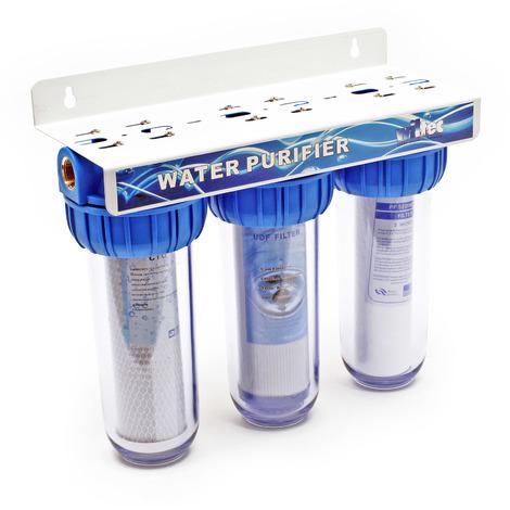 """Naturewater NW-BR10B4 3 etapes système filtre 20.67mm (1/2"""") filtre à sédiments, bloc charbon actif"""
