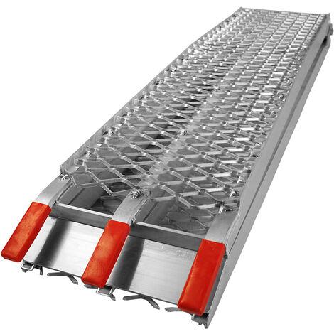 Rampe de chargement Pliable Aluminium Moto VTT Quad Rampe d'accès Rail 226cm 340kg
