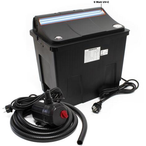 Filtre biologique CBF-200T Système de filtration complet, UV+ Pompe