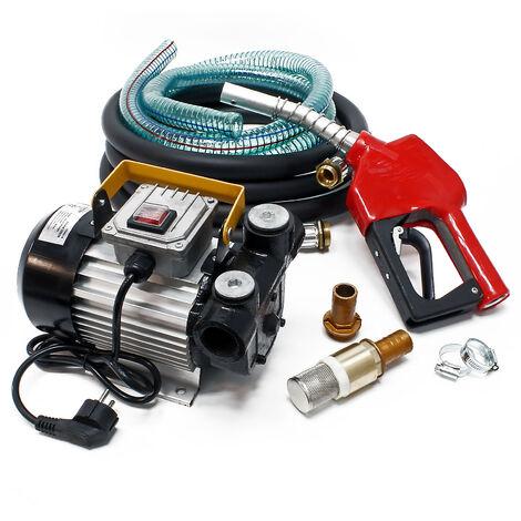 Pompe à Fuel ou Gasoil bio Autoaspirante 230V/550W 60l/min Mobile Pistolet Auto.
