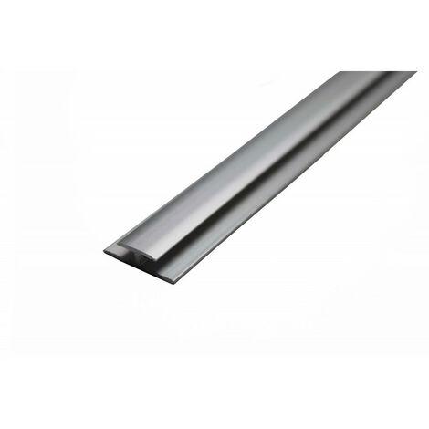 Profilé de jonction aluminium pour crédence 2050 mm x 3mm - Coloris - Alu, Epaisseur - 3 mm, Longueur - 2050 mm
