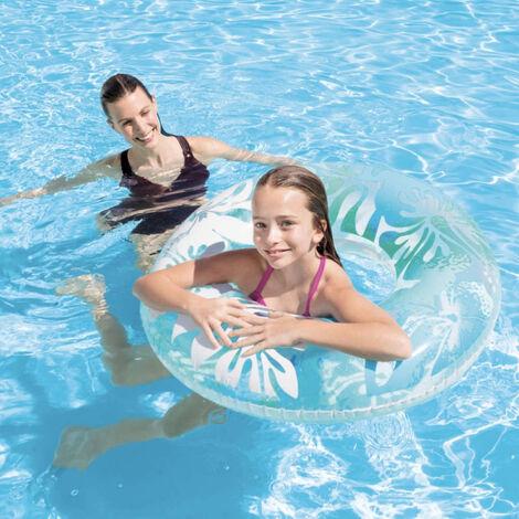 Bouée gonflable géante Intex Aloha à Fleurs - Fleurs bleues