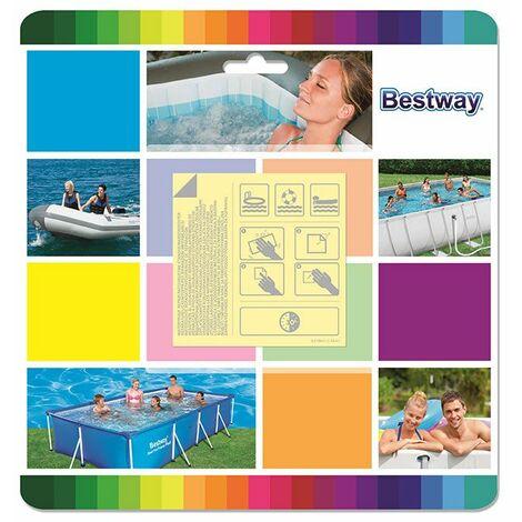 10 patchs de réparation pour liner de piscine waterproof Bestway