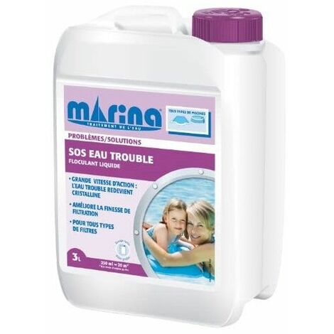 SOS Eau trouble Floculant liquide Marina - 3L