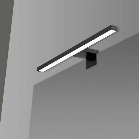 Lampada Led Per Specchio Colore Nero Opaco 30 cm in ABS