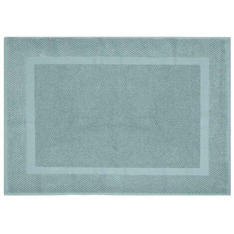 Tappeto scendi doccia 100% cotone verde acqua 45x64 cm