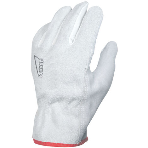SINGER - Paire de gants paume fleur de bovin - Dos croûte - Coloris naturel - Taille 9 - 50FC