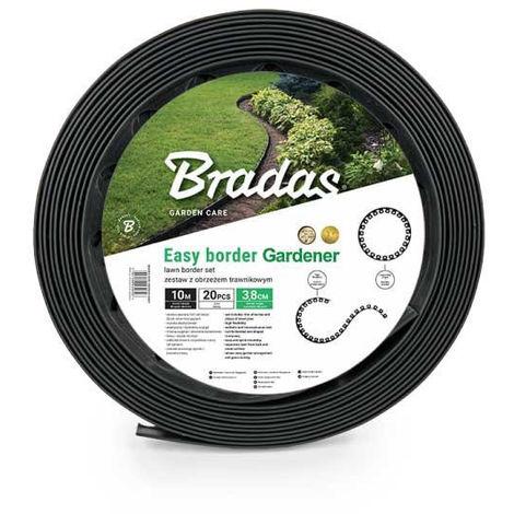 Bordure de jardin graphite foncé EASY BORDER longueur 10 M hauteur 38 mm