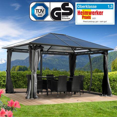 Alu-Pavillon Premium 3x4m grau
