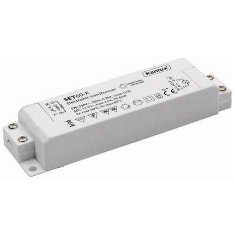 Transformateur électronique 20 à 60W / AC12V