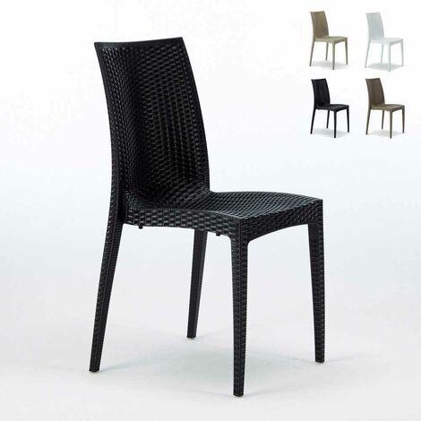 Chaises de Jardin café bar empilable Bistrot Grand Soleil   Noir