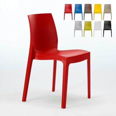 Chaise en polypropylène empilable Salle à Manger café bar ROME Grand Soleil