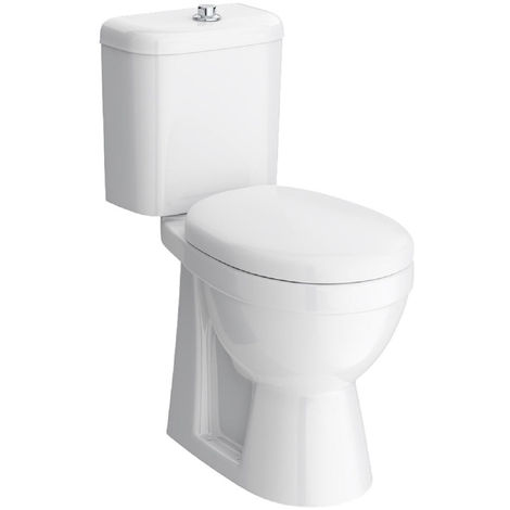 Nuie Doc M Comfort Height Toilet Pan with Cistern and Seat - DOCMP100