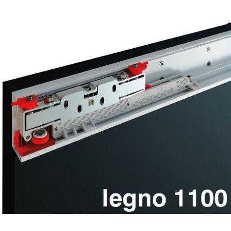 kit Terno Magic 2 con binario invisibile per porta scorrevole in legno larghezza fino a 110 cm