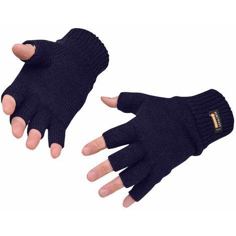 PORTWEST GL14 black winter Insulatex lined fingerless knit glove