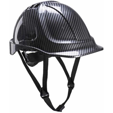 Portwest - Site Safety Workwear Endurance Carbon Look Helmet Hard Hat Grey
