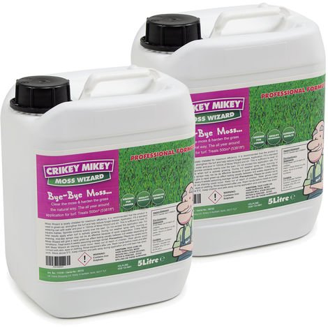 Crikey Mikey Moss Wizard 2 x 5 Litres