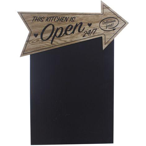 Tableau mémo ardoise -37 x 48 - Open - Noir