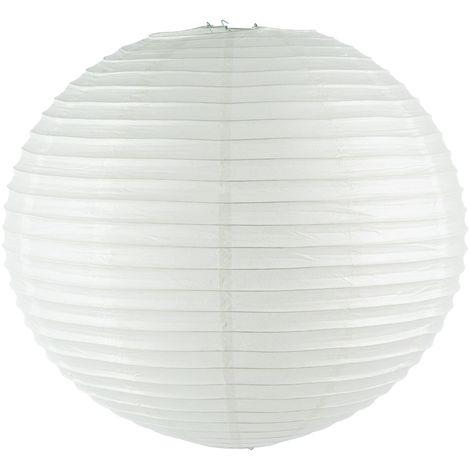 Lanterne Boule - Diam. 60 cm. - Blanc - Blanc